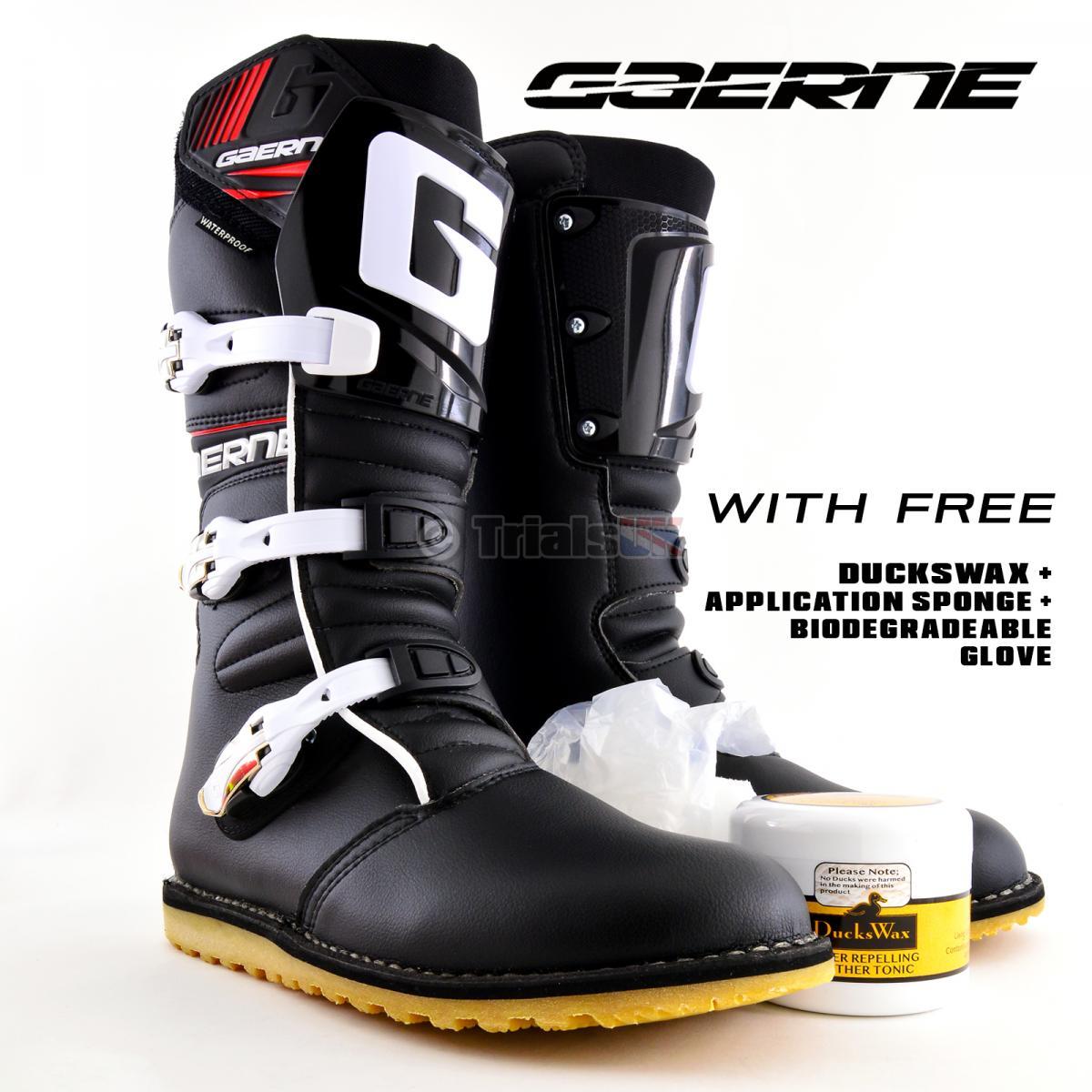 Gaerne Balance CLASSIC Trials Boot FREE DUCKSWAX Waterproof Polish